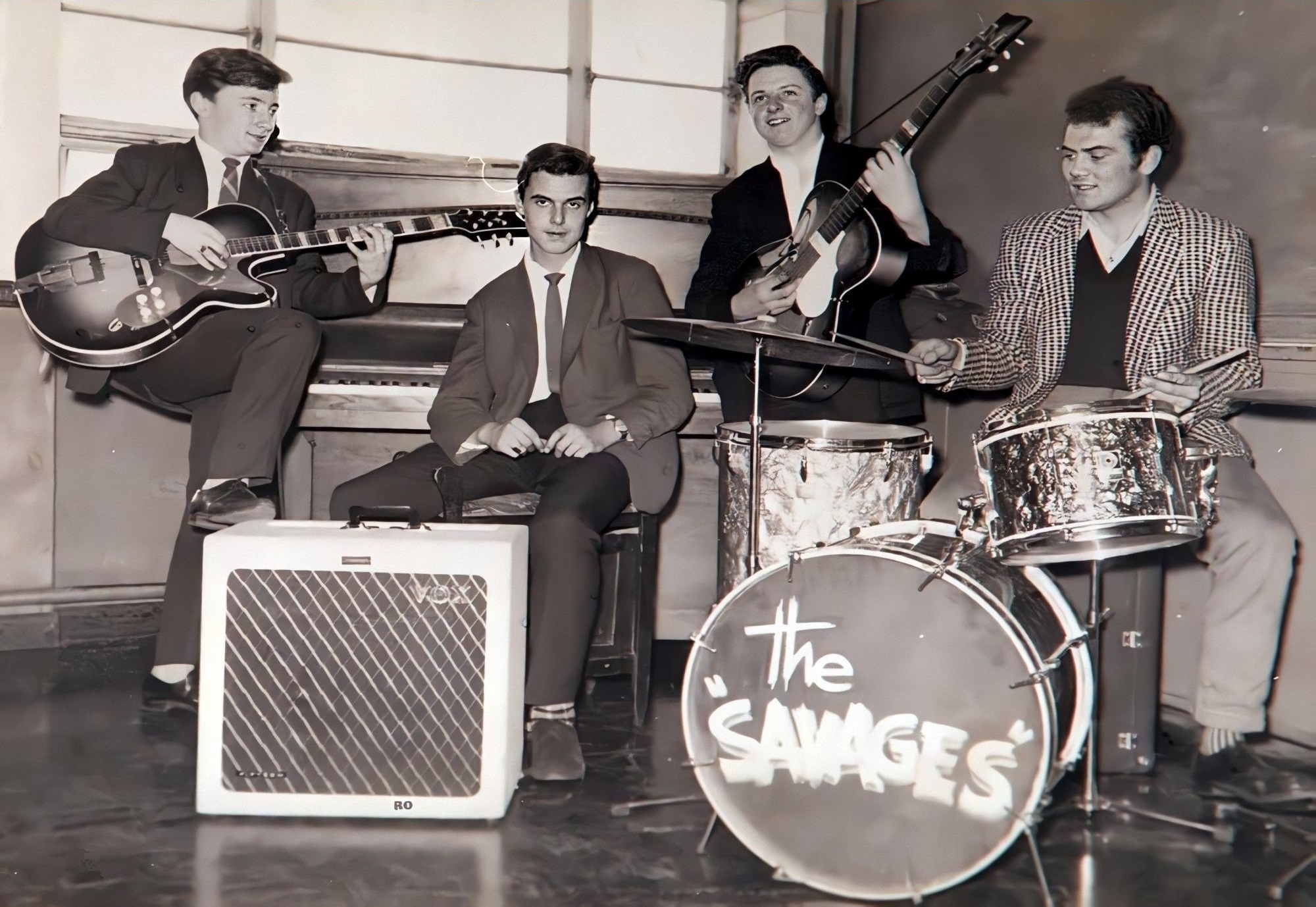 Nicky Hopkins with the Savages in 1960